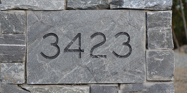 Address Numbers And Letters