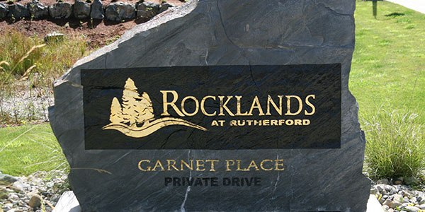Sandblasted Rock Sign