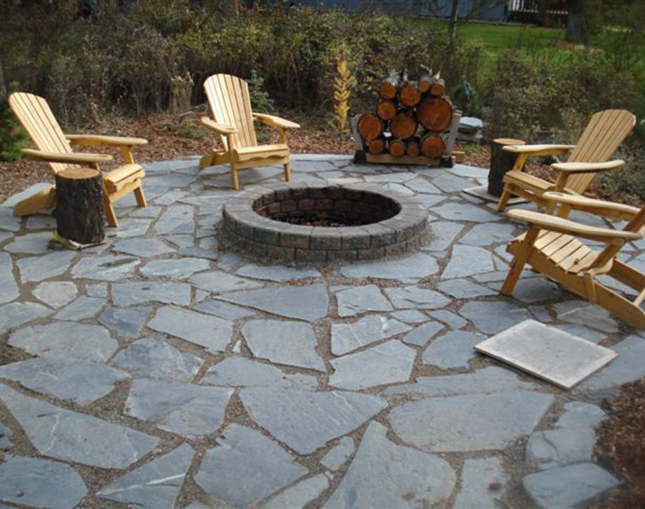 Flagstone Firepit DIY Landscaping Project