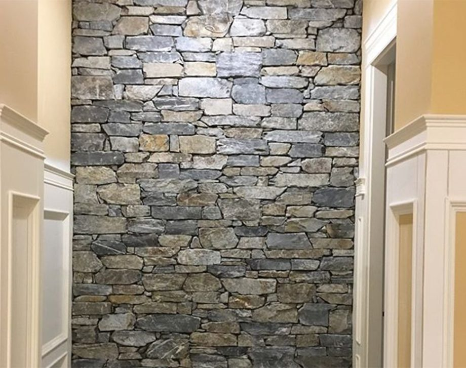 Natural Ledge Stone Veneer on an interior feature wall.