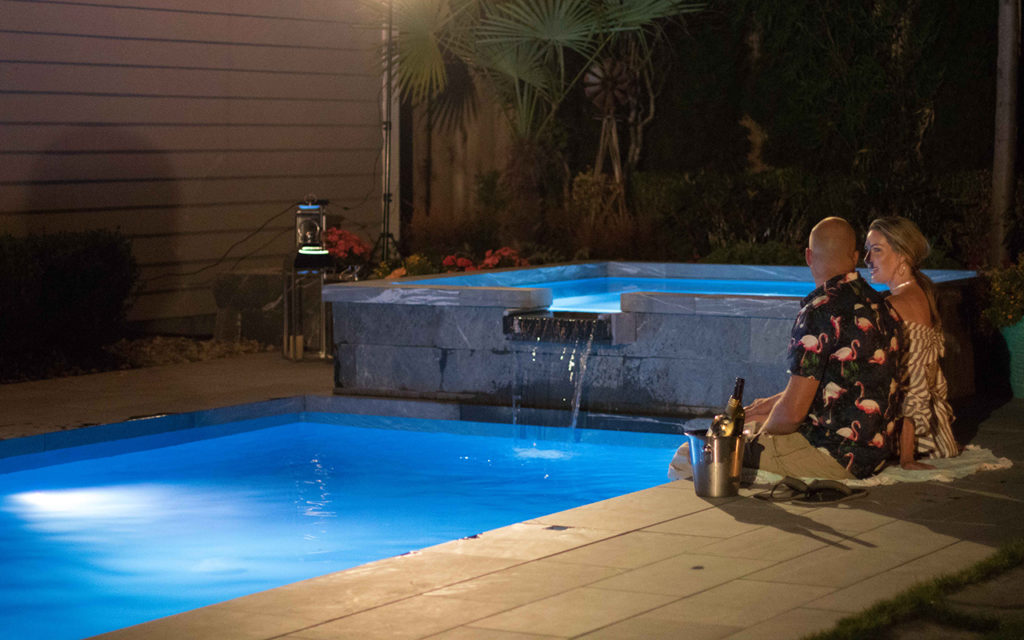 Dunk Swimming Pool With K2 Stone Landscaping K2 Stone